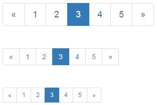 bootstrap pagination size
