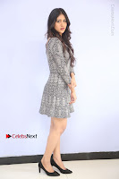 Actress Chandini Chowdary Pos in Short Dress at Howrah Bridge Movie Press Meet  0054.JPG