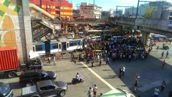 MRT train derailed