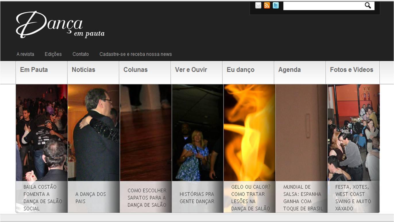 5bd0eb04ff Imagem 1 - Página de abertura da Revista Dança em Pauta