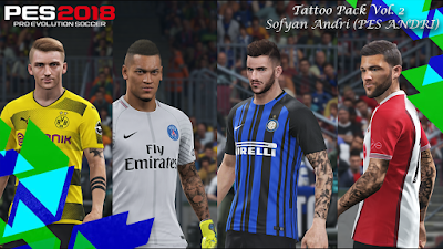 PES 2018 Tattoo Pack by Sofyan Andri