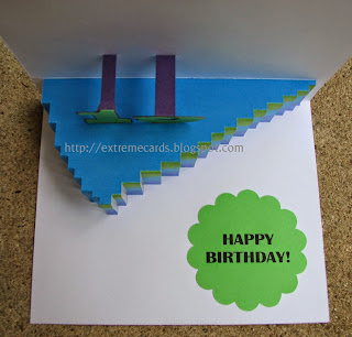 slice of cake pop up card numeral slots