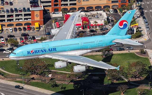 a380 korean air los angeles airport
