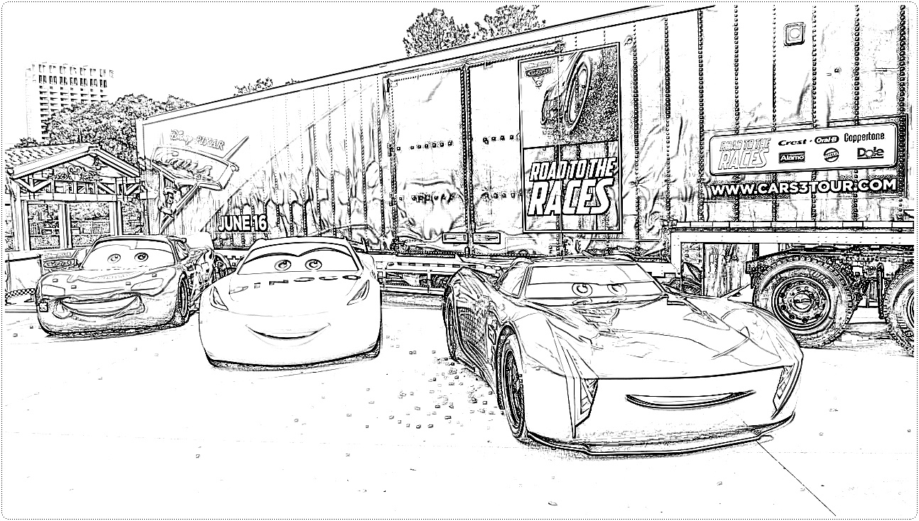 Disney Cars 3 Coloring Pages Free Printable