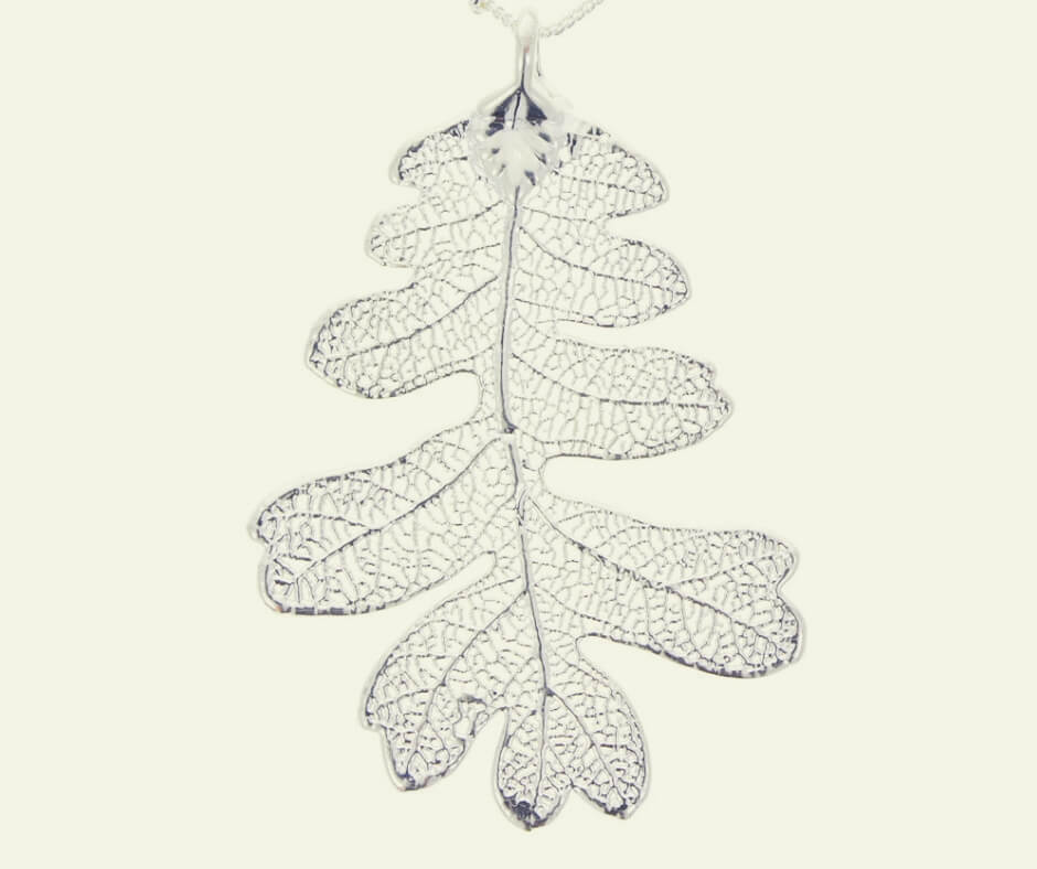 Christmas Gift Ideas For Your Mum and Dad | A unique silver pendant - made with real leaves.