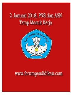 2 Januari 2018 PNS dan ASN Masuk Kerja, Tidak Cuti Bersama