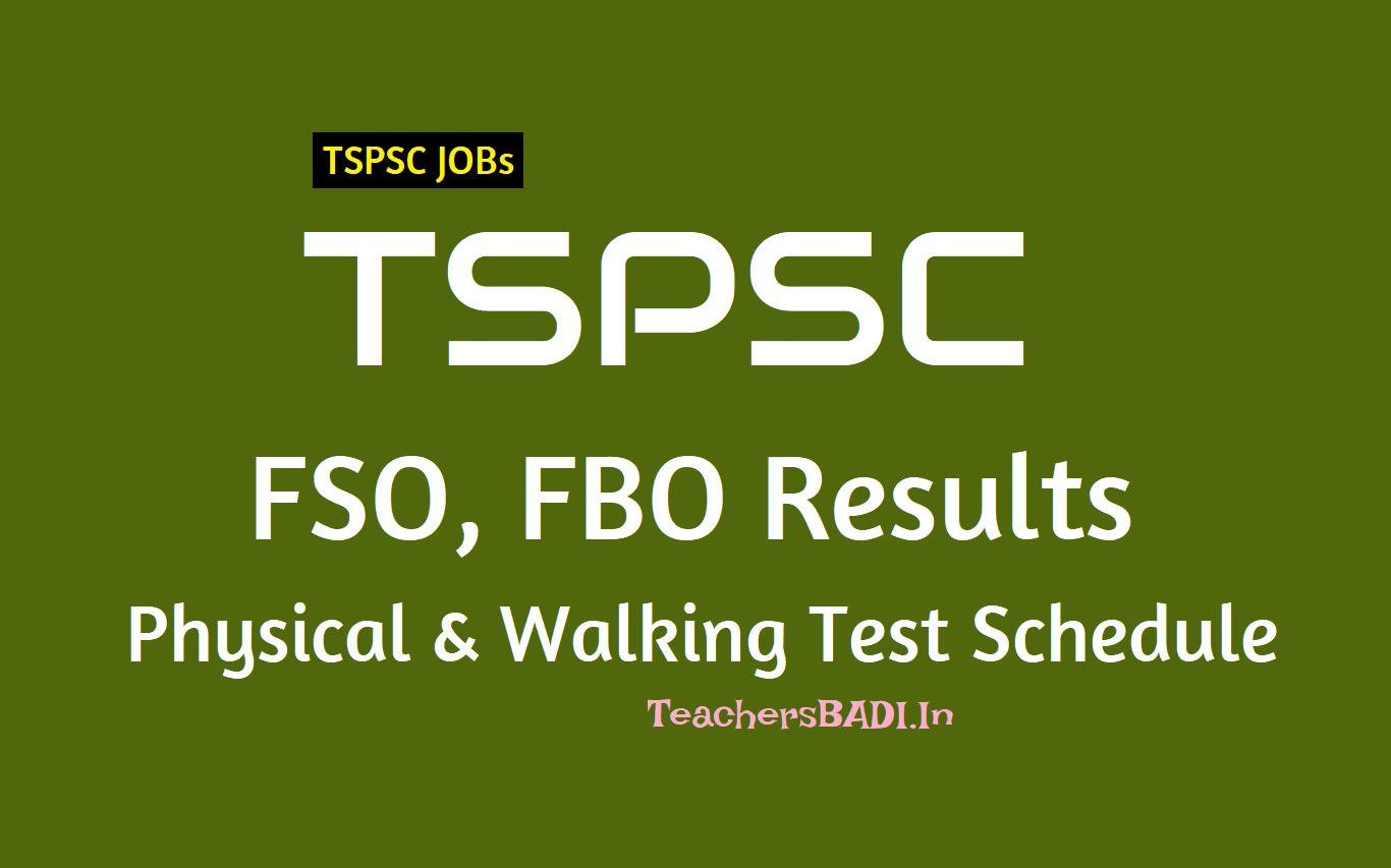 Tspsc Fso Fbo Results 2nd Spell Physical And Walking Test Schedule
