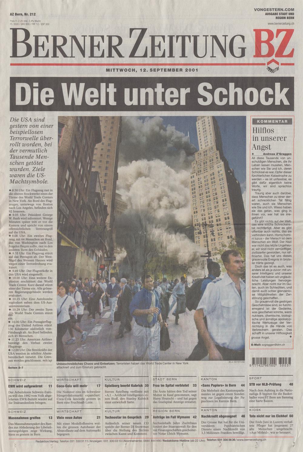 Opferzahl 9/11