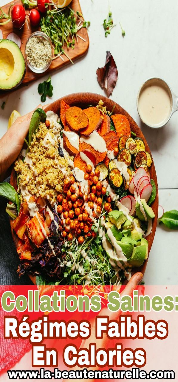 Collations saines: Régimes faibles en calories