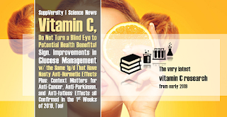 How Diabetics Can Benefit Tremendously From Vitamin C and What Else the 1st Studies from 2019 Teach Us About Ascorbic Acid, Cancer, Antibiotic Side Effects & 'ur Gainz 1