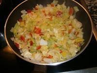 Quiche de verduras y frutos del mar (Tarta salada)