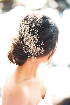 penteado de noiva preso descontraido