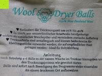 Eigenschaften: Blissany Trocknerbälle - Der schonende Weichspüler aus 100% neuseeländischer Schafswolle