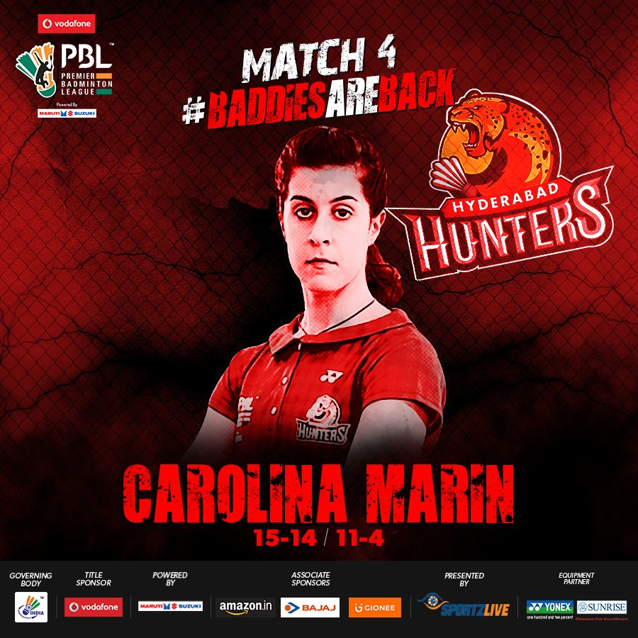 sports news PBL 2017 LIVE DELHI ACRES VS HYDERABAD HUNTERS