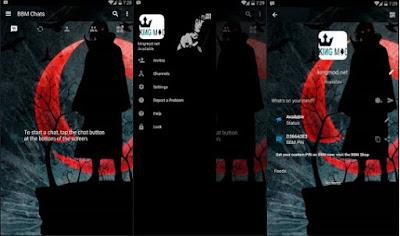 BBM MOD Itachi Versi Terbaru Full Features Apk Clone / Unclone