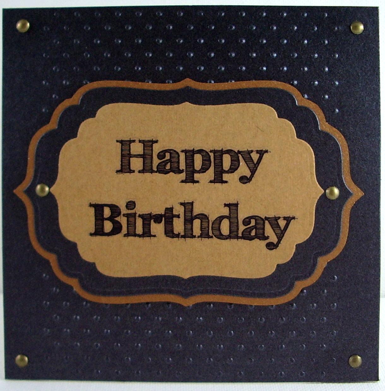 Jenfa Cards: Masculine Happy Birthday