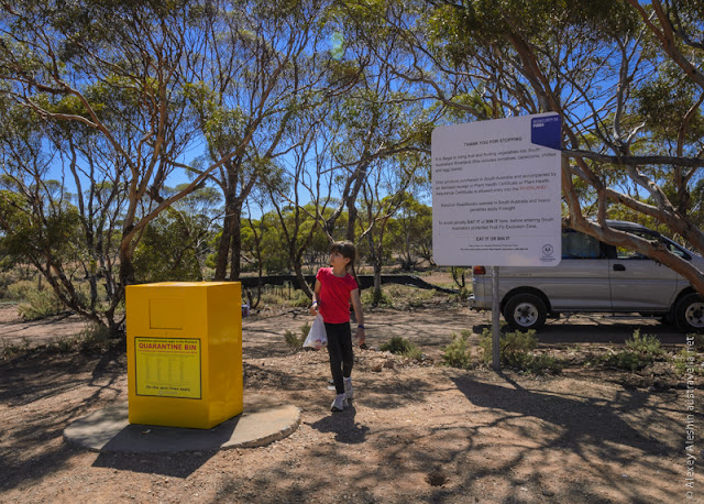 Fruit and Vegetables Quarttin Bin at the border of Riverland