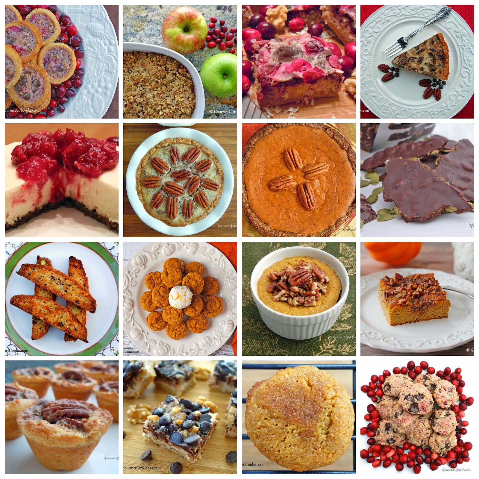 Gourmet Girl Cooks: 16 Thanksgiving Dessert Recipes
