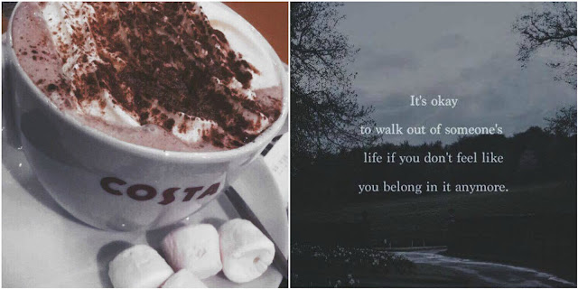 hot chocolate and quote