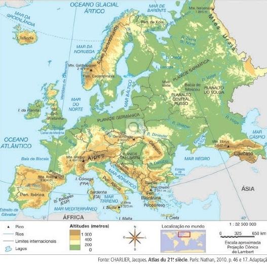 mapa hipsométrico da europa Blog Geografia Professor André Pinho Peter mapa hipsométrico da europa