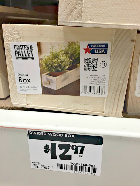 Long wood box Home Depot