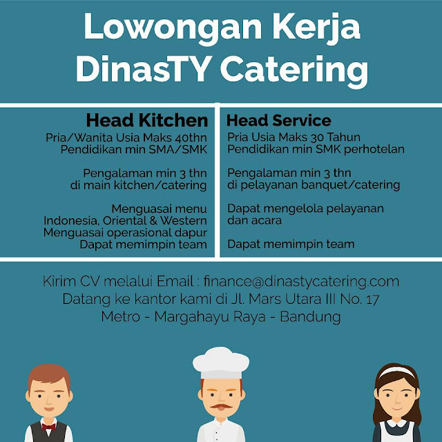 Loker DinasTY Catering Bandung