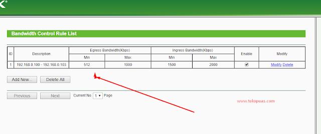 cara membatasi speed internet di router tp link