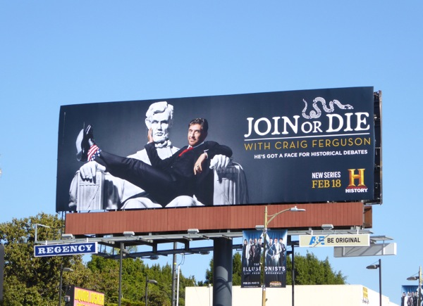 Join or Die series premiere billboard