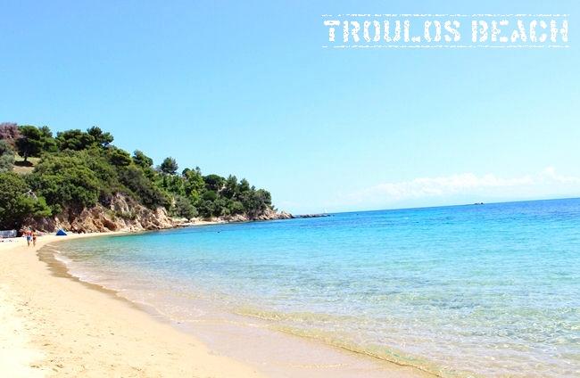 Troulos beach Skiathos island