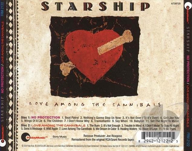 STARSHIP - Love Among The Cannibals [Friday Music Remaster] (2016) back