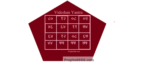 The fearsome and magical Videshan Yantra to divide enemies