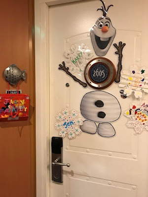 Disney cruise stateroom door with magnets