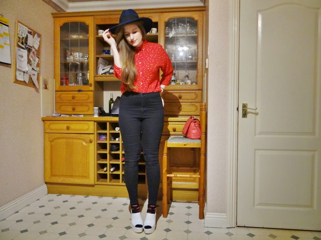 red blouse primark