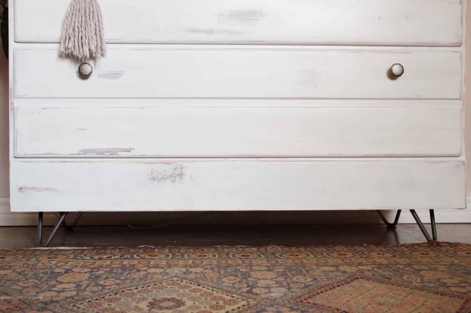 House Homemade:Hairpin leg dresser makeover