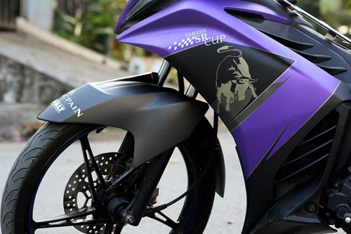 Sơn phối màu Exciter màu tím đen nhám Lamborghini