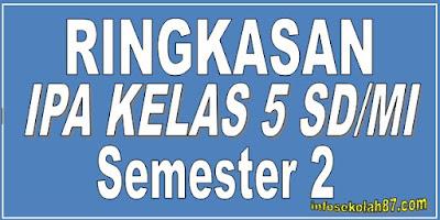 Materi Rangkuman IPA Kelas 5 SD/MI Semester 2