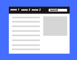 menu dropdown search scroll over blogger template
