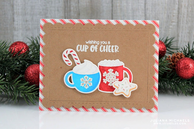 Sunny Studio Stamps: Mug Hugs Cup of Cheer Christmas Card by Juliana Michaels.