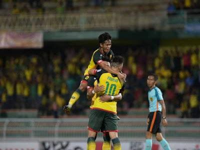 Gambar pemain Kedah FA meraikan kemenangan ke atas Terengganu FC.
