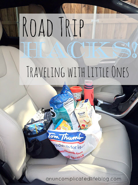 Road trip tricks for traveling with little ones #RoadTripHacks #TomThumb #ad
