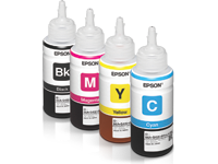 Which type of ink used by Epson printers L210 | en Rellenado
