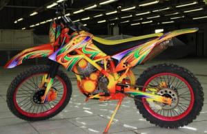 Foto gambar modifikasi motor bebek jadi trail serta biaya bengkel