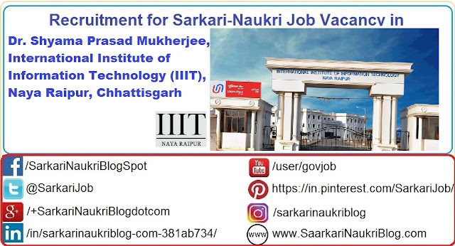 Naukri Vacancy Recruitment IIIT Naya Raipur