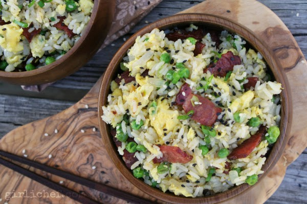 <b>Duck Bacon Fried Rice</b> {#EatingIndiana: Maple Leaf Farms}