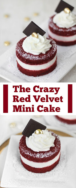 The Crazy Red Velvet Mini Cake #redvelvet #dessert #sweet #minicake #easycake #easydessert #crazycake #whole30 #ketodessert