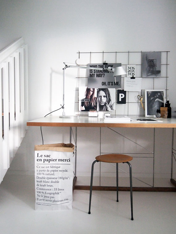 DIY: Iron mesh moodboard | Image via Stil Inspiration.