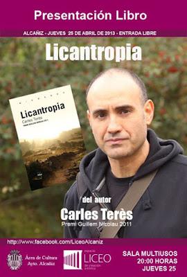 licantropía, llop, llops, lobo, lobos, Carlos Terés Bellés, Torredarques, Torre de Arcas