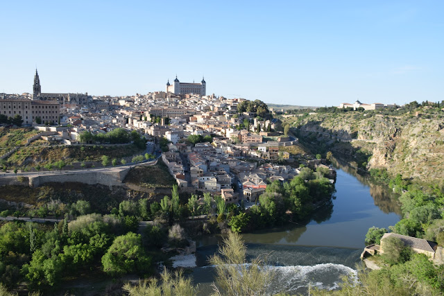 Panorama view of Toledo, Spain from Mirador