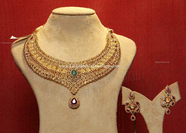 Kasu Motifs Uncut Diamond Necklace