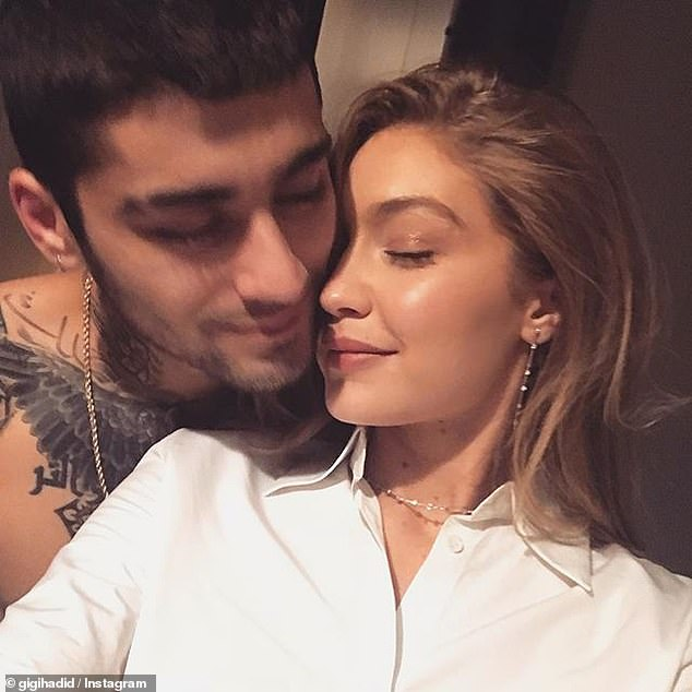 Gigi Hadid cosies up to shirtless boyfriend Zayn Malik in intimate Instagram snap